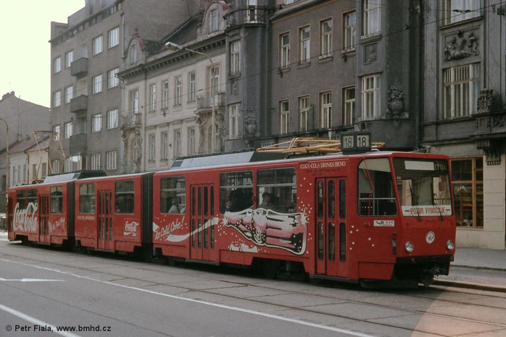 Fotogalerie » ČKD Tatra KT8D5 1704 | Brno | Královo Pole | Palackého třída | Husitská