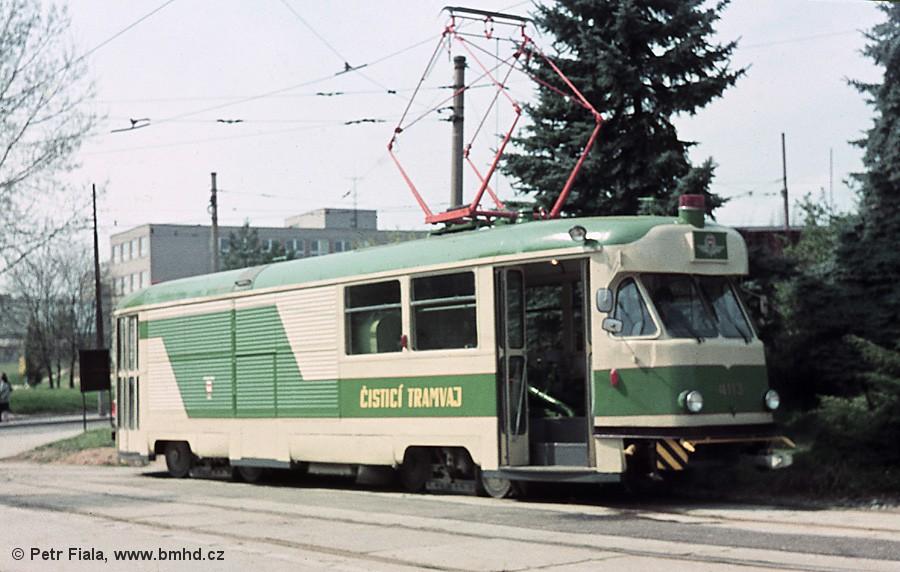 Fotogalerie » Tatra T2 služební 4113 | Brno | Královo Pole | Červinkova, smyčka