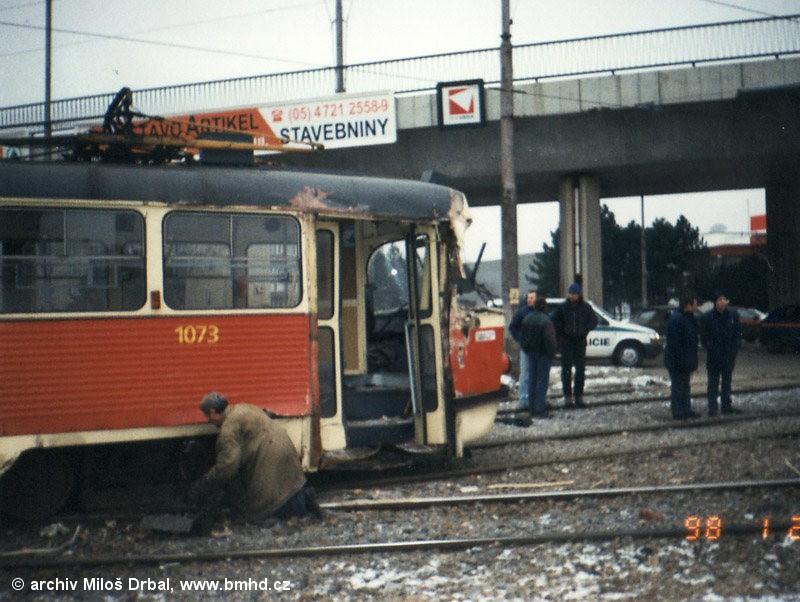 Fotogalerie » ČKD Tatra K2 1073   Brno   Štýřice   Vídeňská