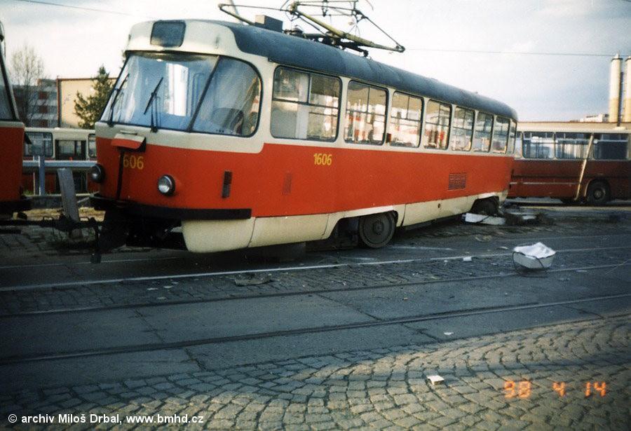 Fotogalerie » ČKD Tatra T3G 1606   Brno   vozovna Medlánky