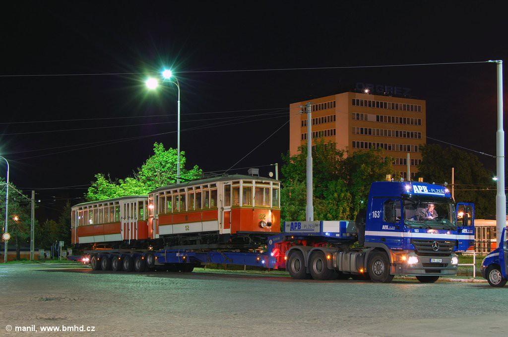Fotogalerie » Vagónka Studénka m 205 | Graz mv4 52 | Brno | vozovna Medlánky