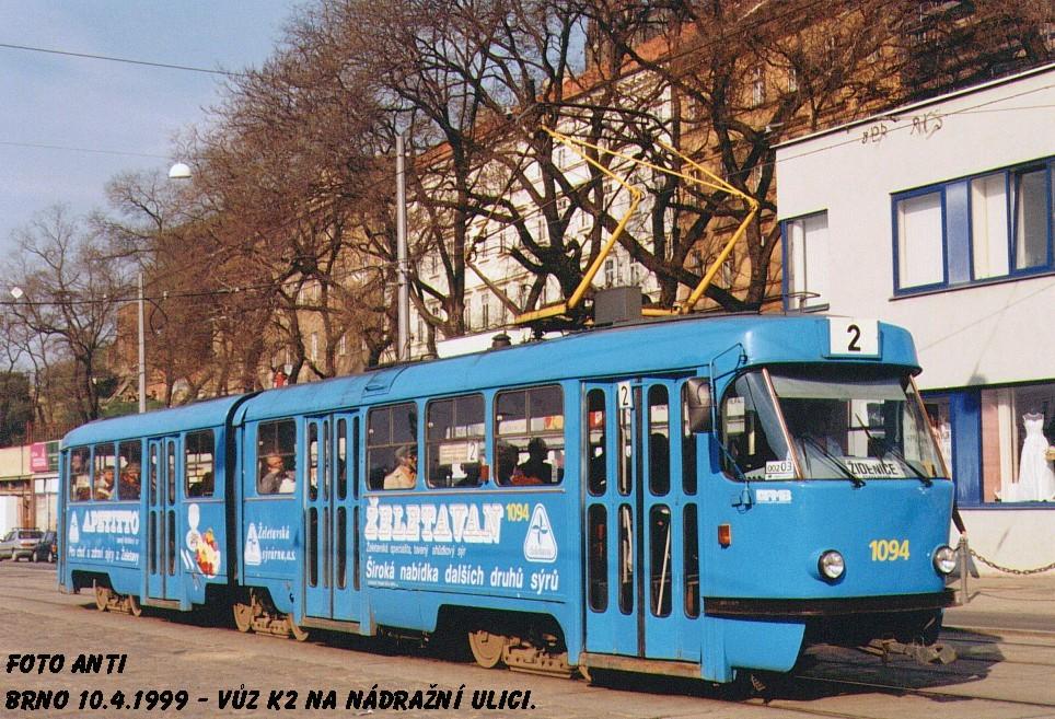 Fotogalerie » ČKD Tatra K2 1094   Brno   střed   Nádražní
