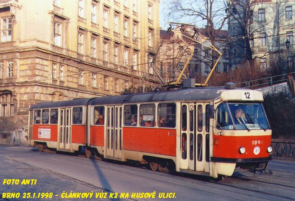 Fotogalerie » ČKD Tatra K2 1094 | Brno | střed | Husova
