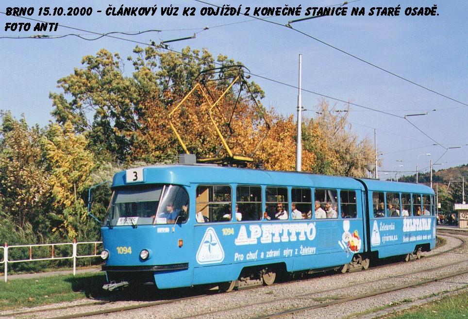Fotogalerie » ČKD Tatra K2 1094 | Brno | Židenice | Stará Osada