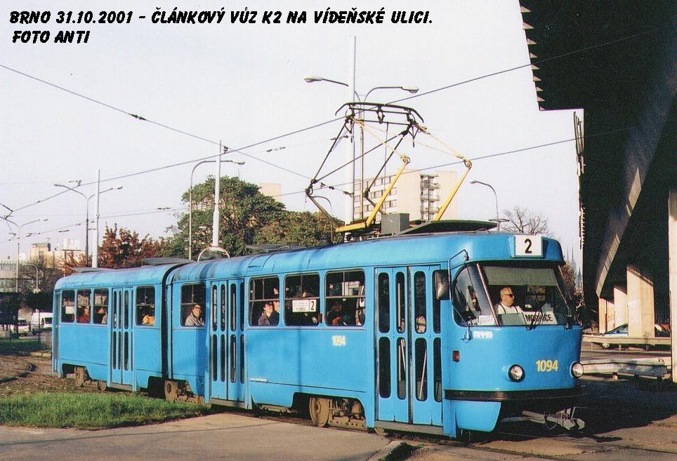 Fotogalerie » ČKD Tatra K2 1094   Brno   Štýřice   Vídeňská
