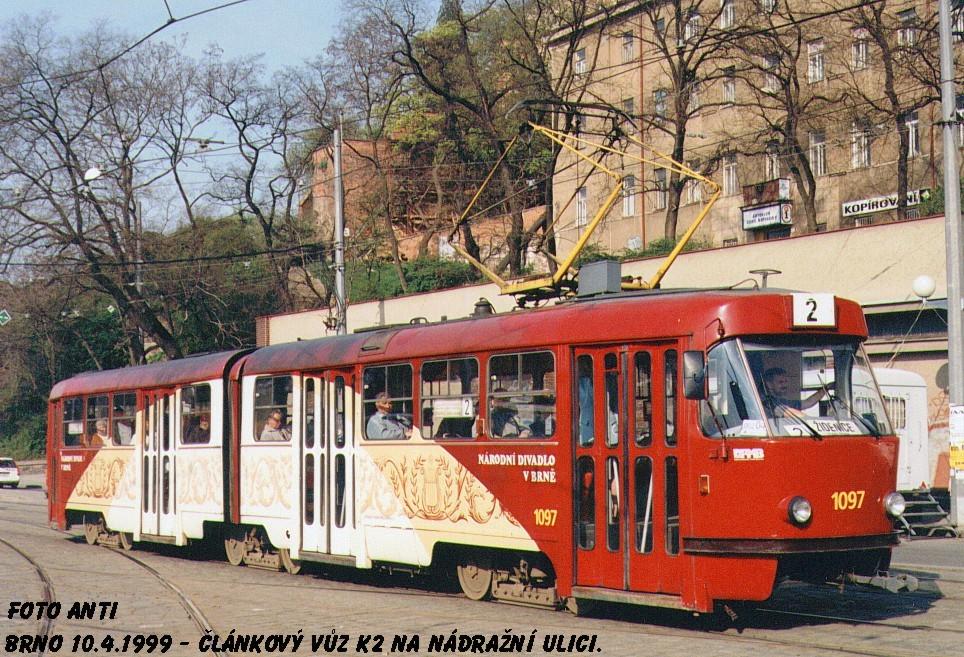 Fotogalerie » ČKD Tatra K2MM 1097 | Brno | střed | Nádražní
