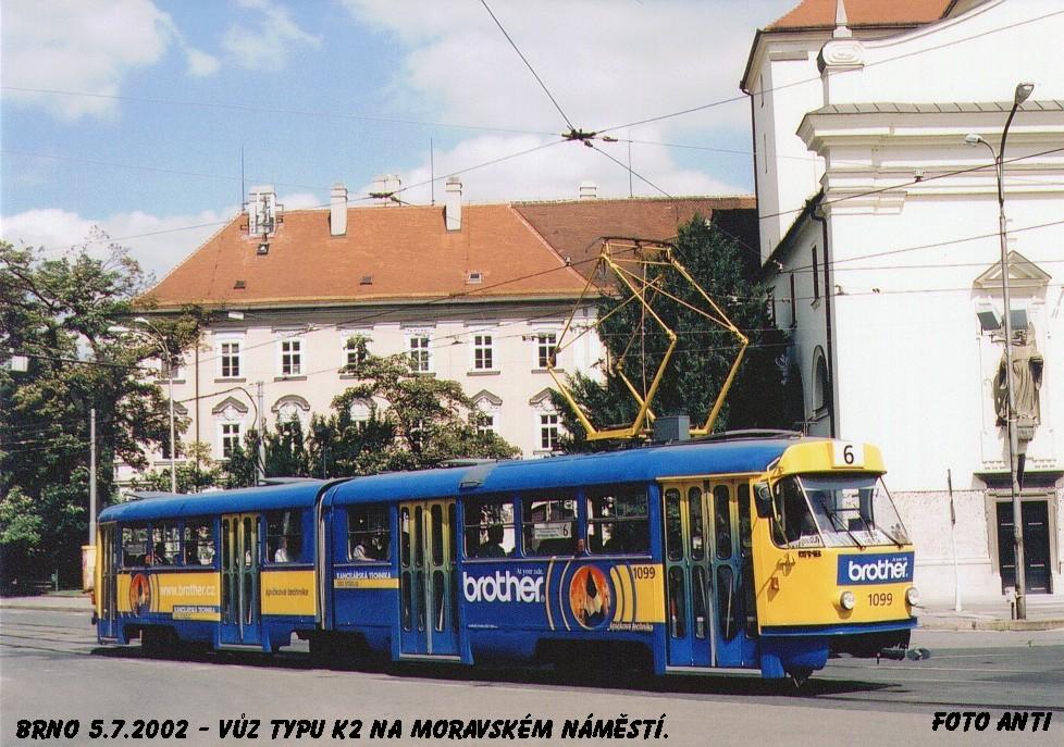 Fotogalerie » ČKD Tatra K2 1099 | Brno | střed | Moravské náměstí