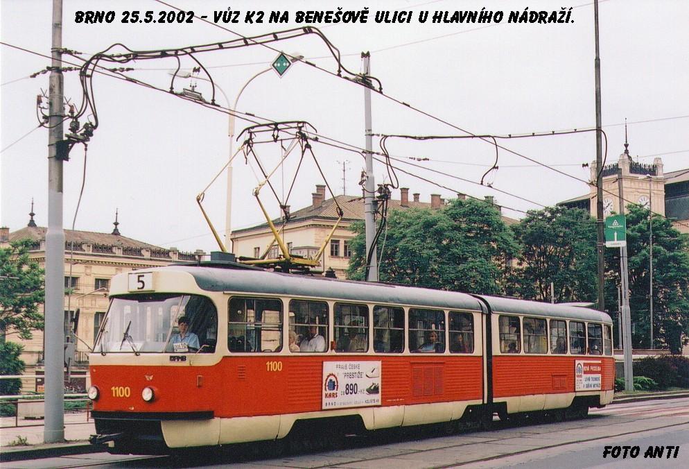 Fotogalerie » ČKD Tatra K2 1100   Brno   střed   Benešova