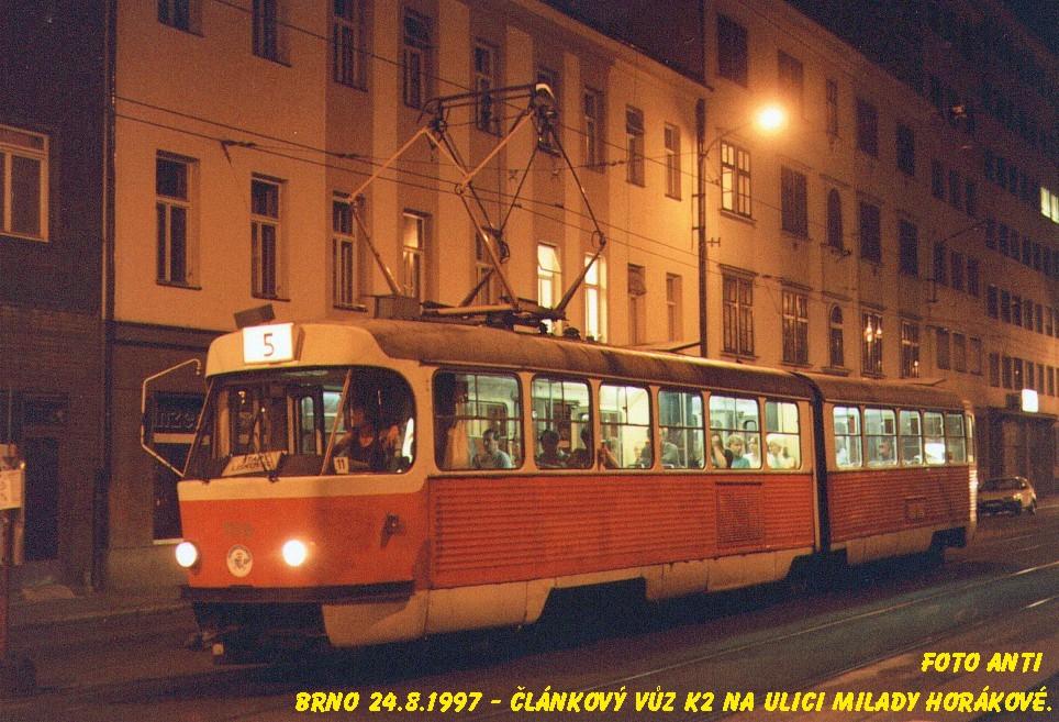 Fotogalerie » ČKD Tatra K2MM 1116 | Brno | Černá Pole | Milady Horákové
