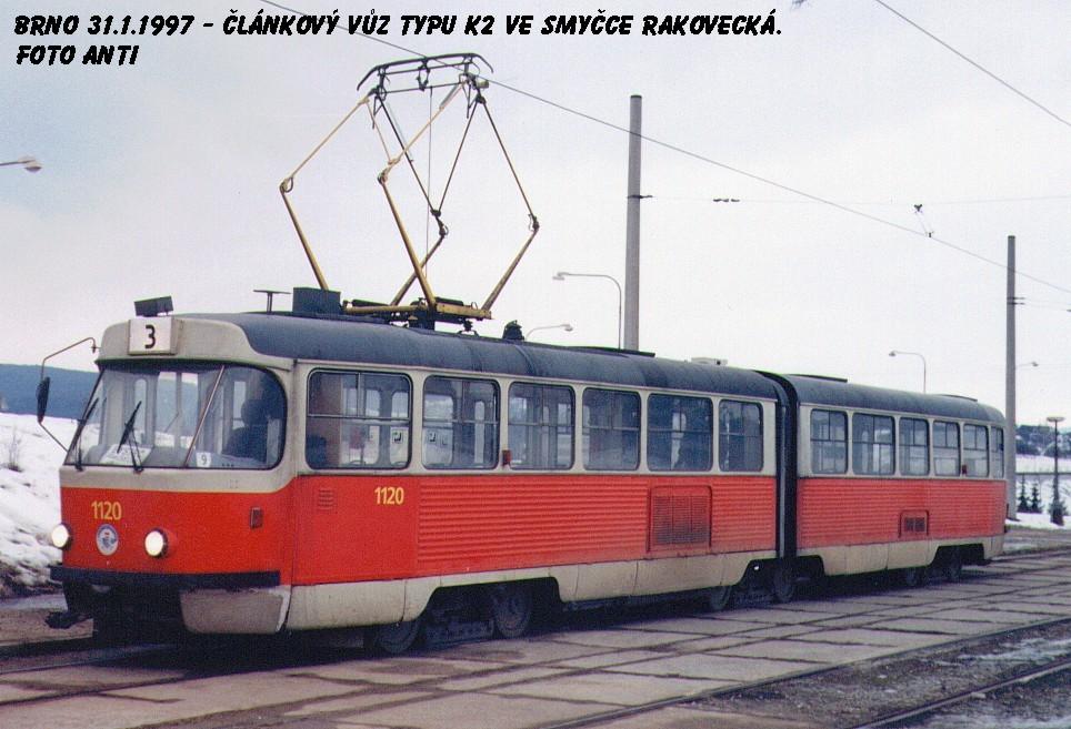 Fotogalerie » ČKD Tatra K2MM 1120   Brno   Bystrc   Rakovecká