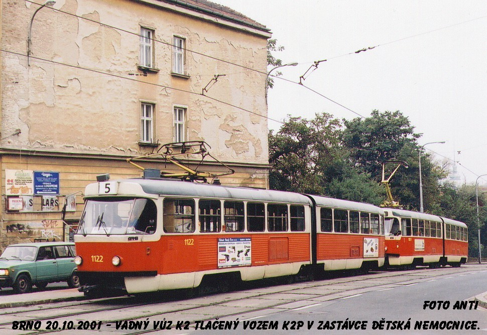 Fotogalerie » ČKD Tatra K2 1122 | Brno | Černá Pole | Milady Horákové | Dětská nemocnice