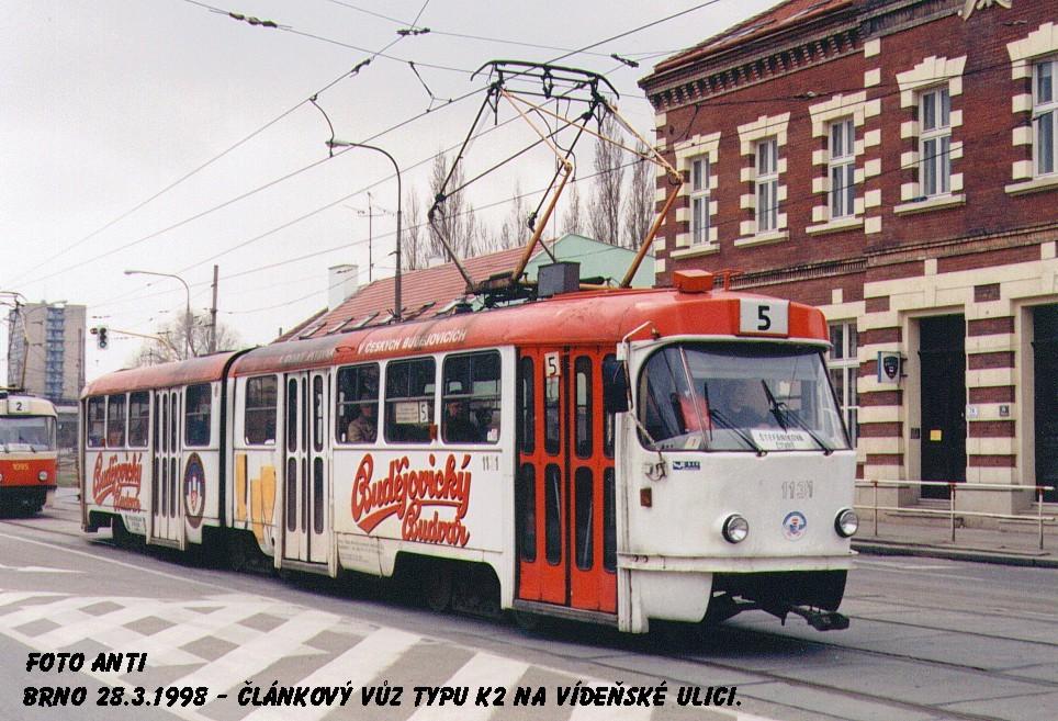 Fotogalerie » ČKD Tatra K2 1131 | Brno | Štýřice | Vídeňská