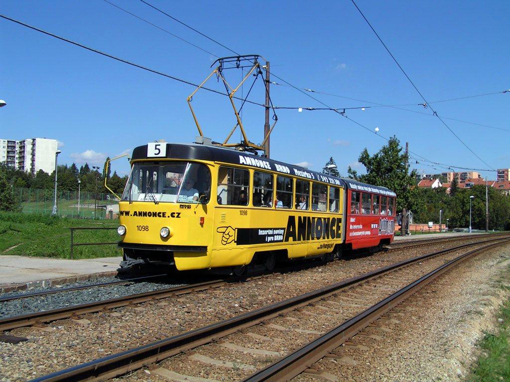 Fotogalerie » ČKD Tatra K2 1098 | Brno | Bohunice