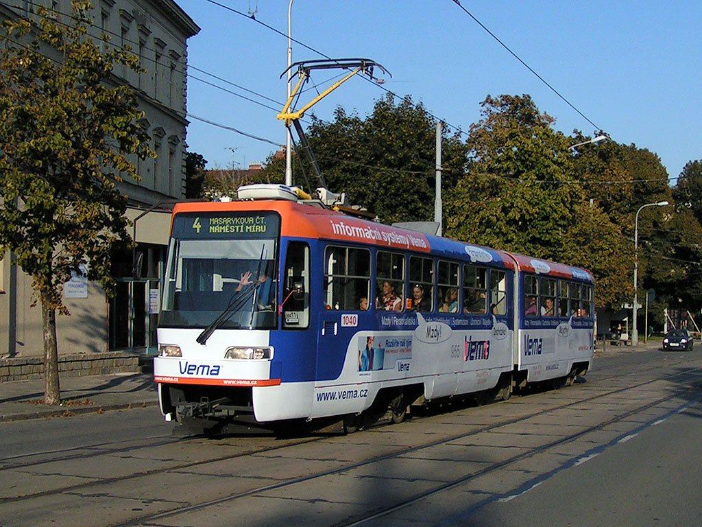 Fotogalerie » ČKD Tatra K2R03-P 1040 | Brno | Veveří | Údolní