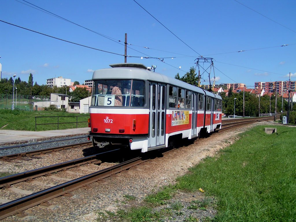 Fotogalerie » ČKD Tatra K2 1072   Brno   Bohunice