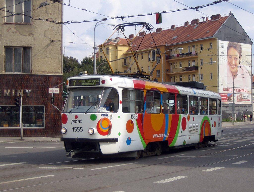 Fotogalerie » ČKD Tatra T3M 1555 | Brno | Staré Brno | Mendlovo náměstí