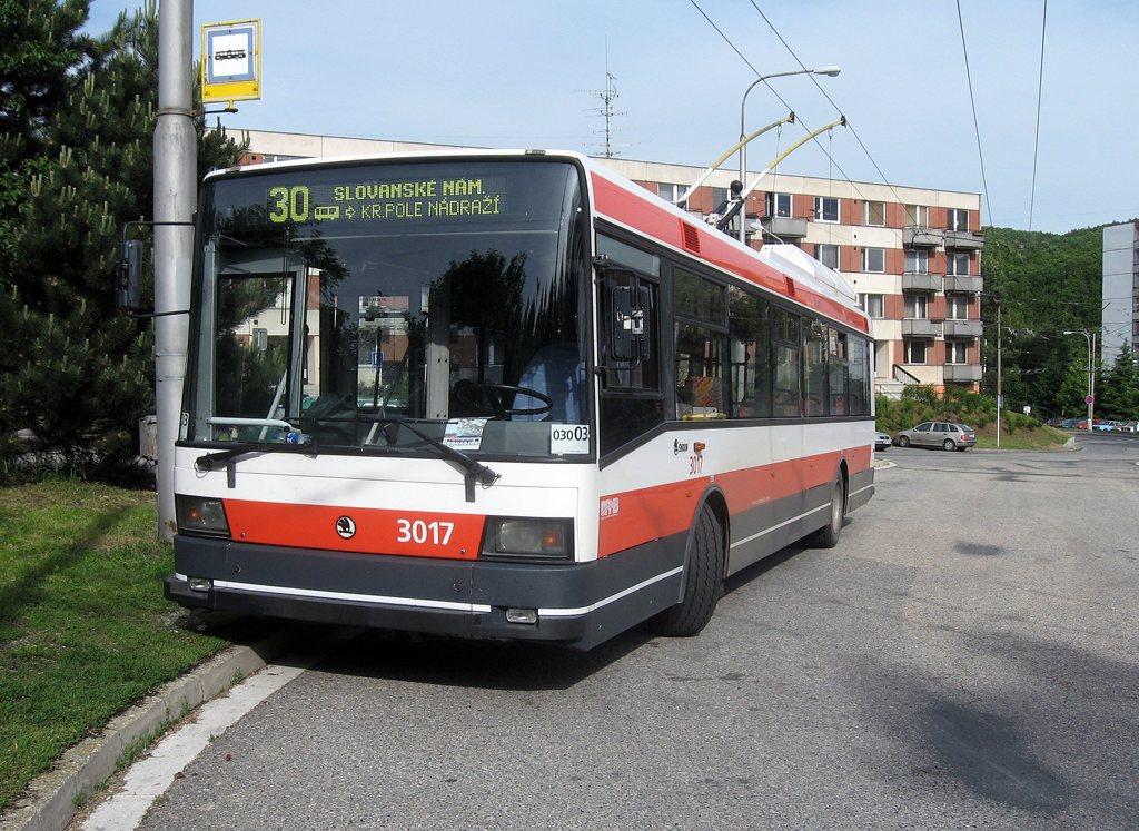 Fotogalerie » Škoda 21Tr 3017   Brno   Bystrc   Černého   Černého