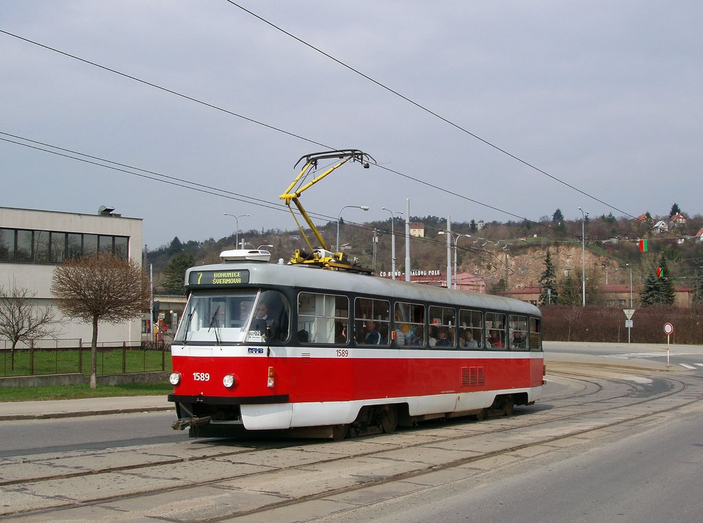 Fotogalerie » ČKD Tatra T3P 1589 | Brno | Královo Pole | Kosmova