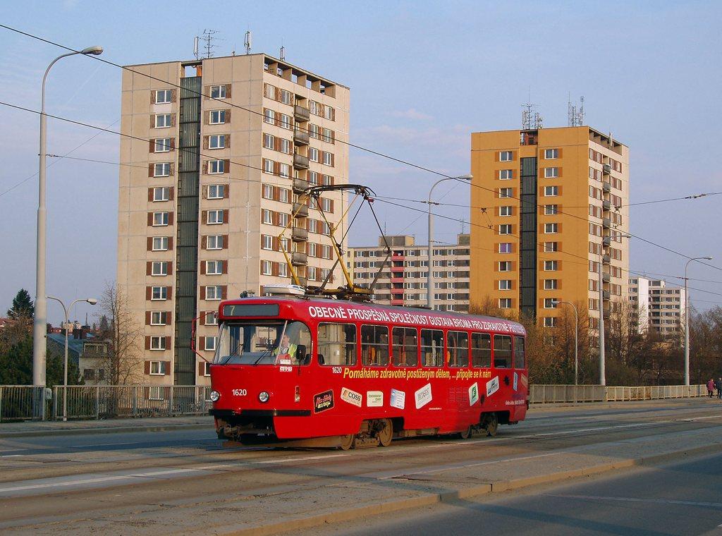 Fotogalerie » ČKD Tatra T3P 1620 | Brno | Královo Pole | Palackého třída