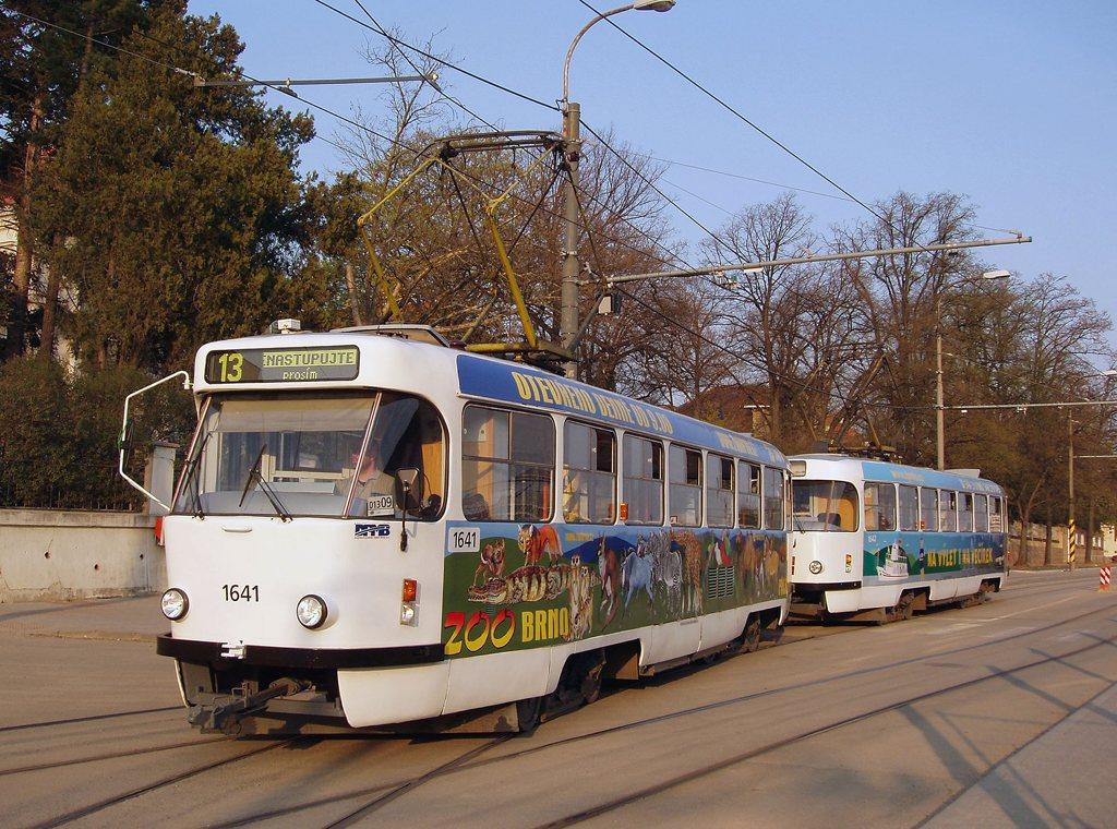 Fotogalerie » ČKD Tatra T3G 1641 | ČKD Tatra T3G 1642 | Brno | Pisárky | Hlinky