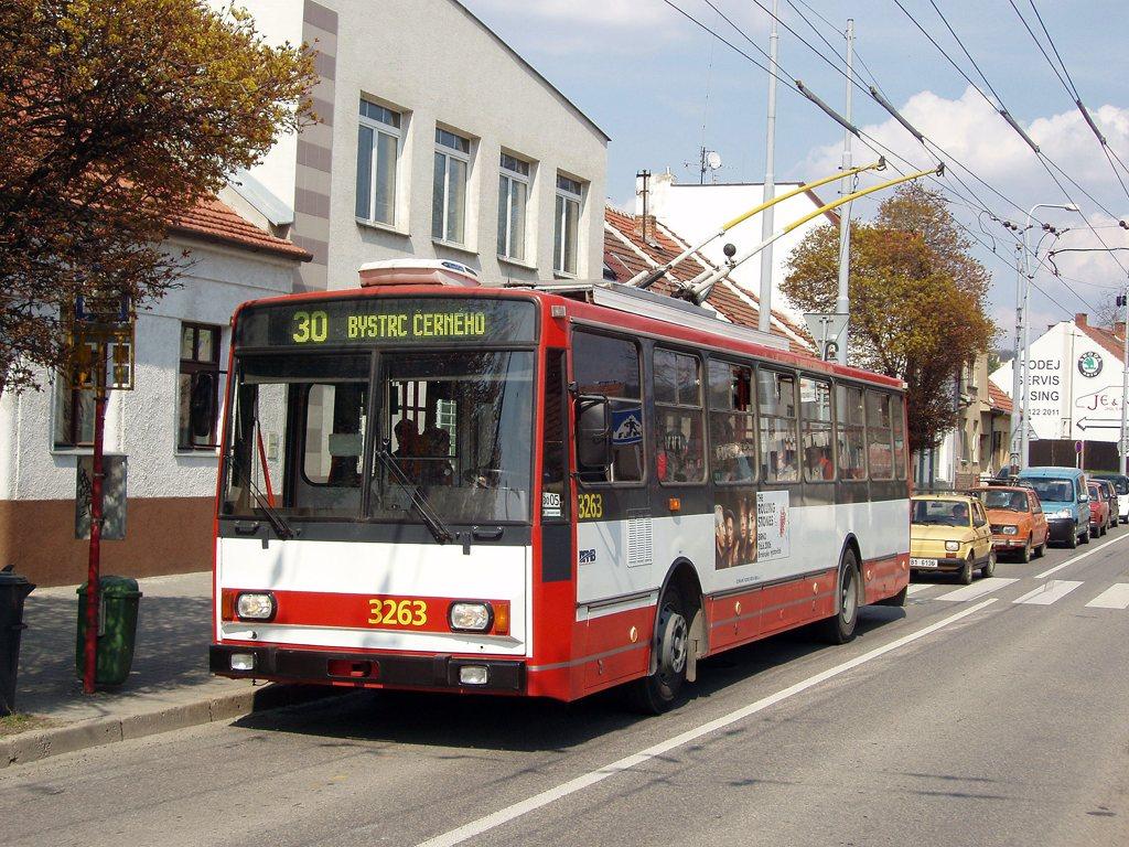 Fotogalerie » Škoda 14TrR 3263 | Brno | Komín | Branka