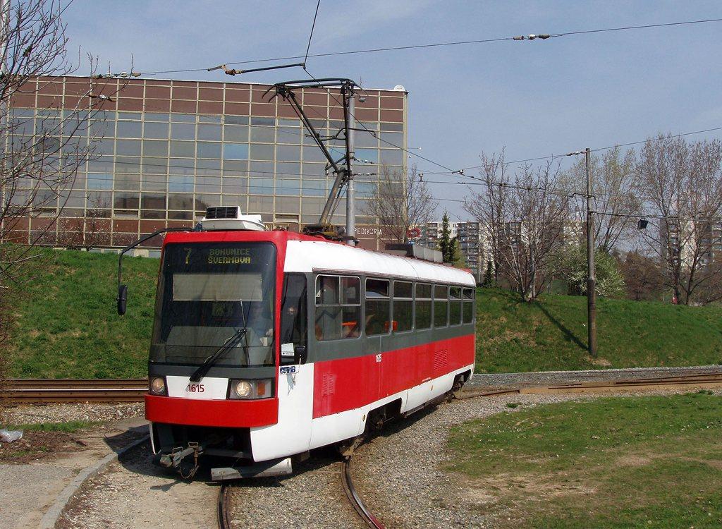 Fotogalerie » ČKD DS T3R 1615 | Brno | Bohunice | Švermova, smyčka