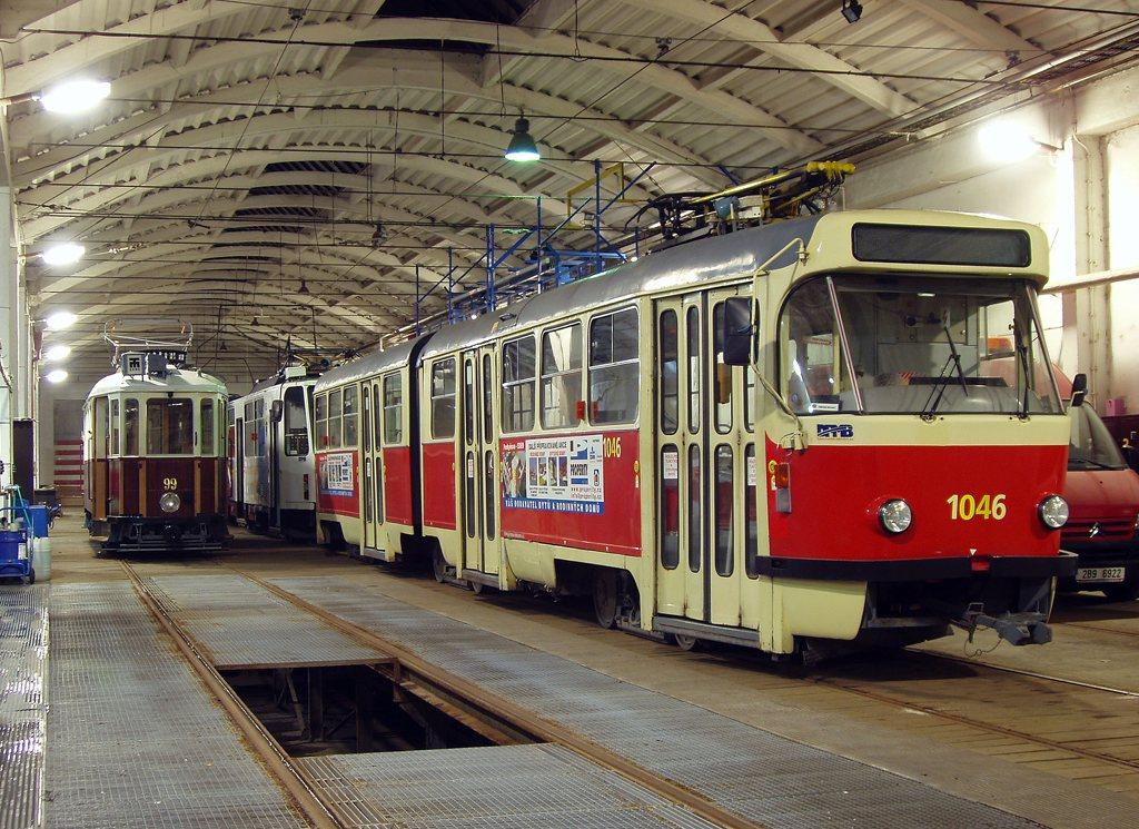 Fotogalerie » KPS Brno + SBEPD mv6.2 99 | ČKD Tatra K2P 1046 | Brno | vozovna Medlánky