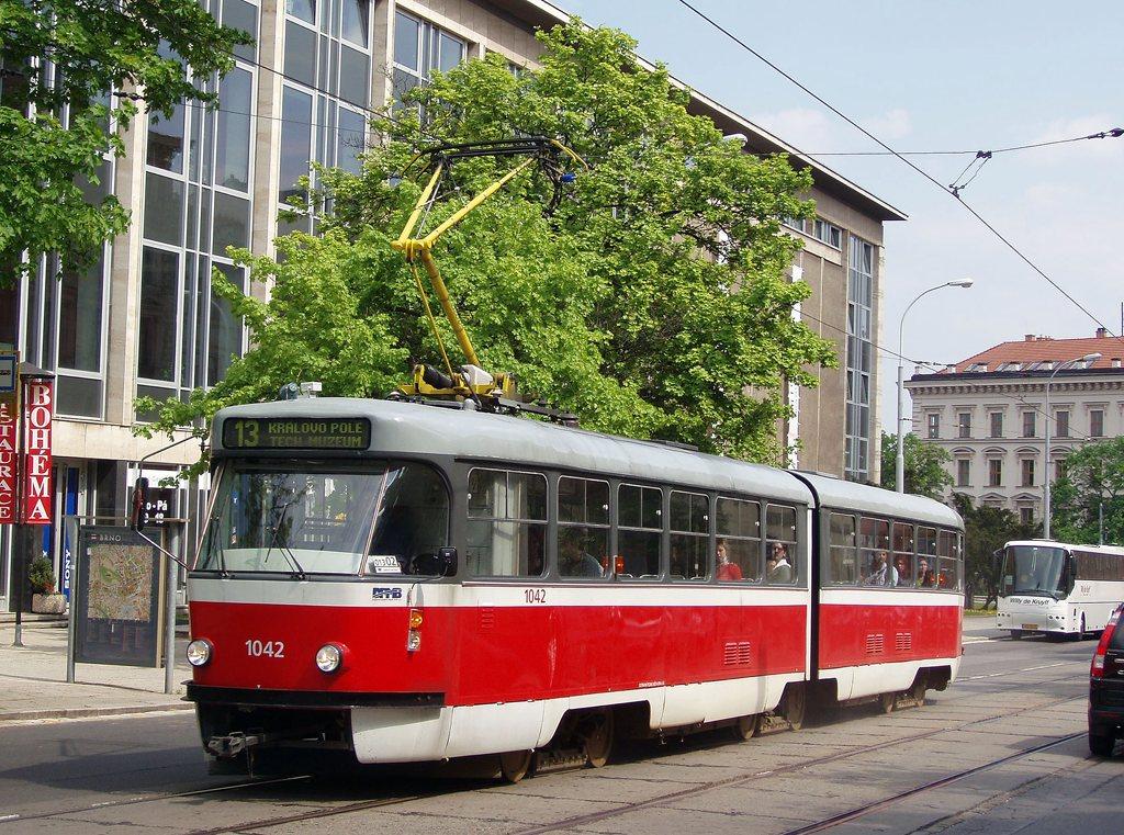 Fotogalerie » ČKD Tatra K2P 1042 | Brno | střed | Rooseveltova