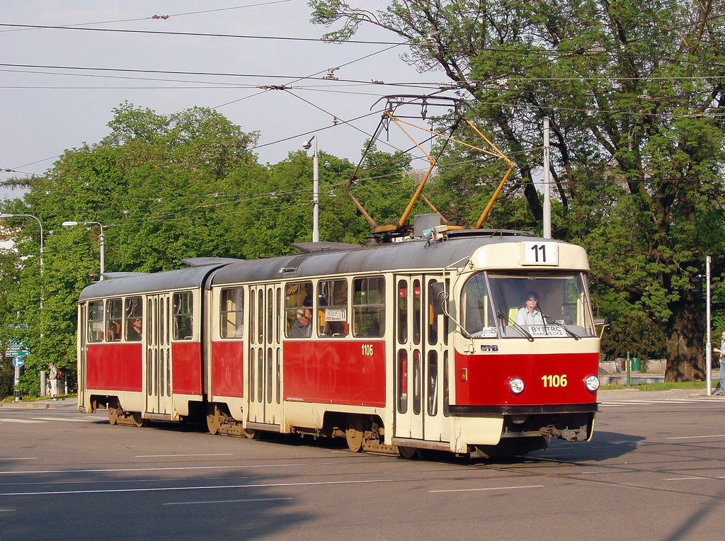 Fotogalerie » ČKD Tatra K2 1106 | Brno | střed | Moravské náměstí