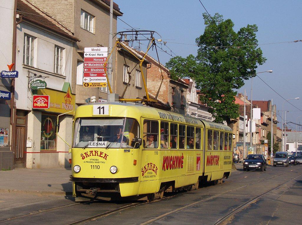 Fotogalerie » ČKD Tatra K2 1110 | Brno | Žabovřesky | Minská