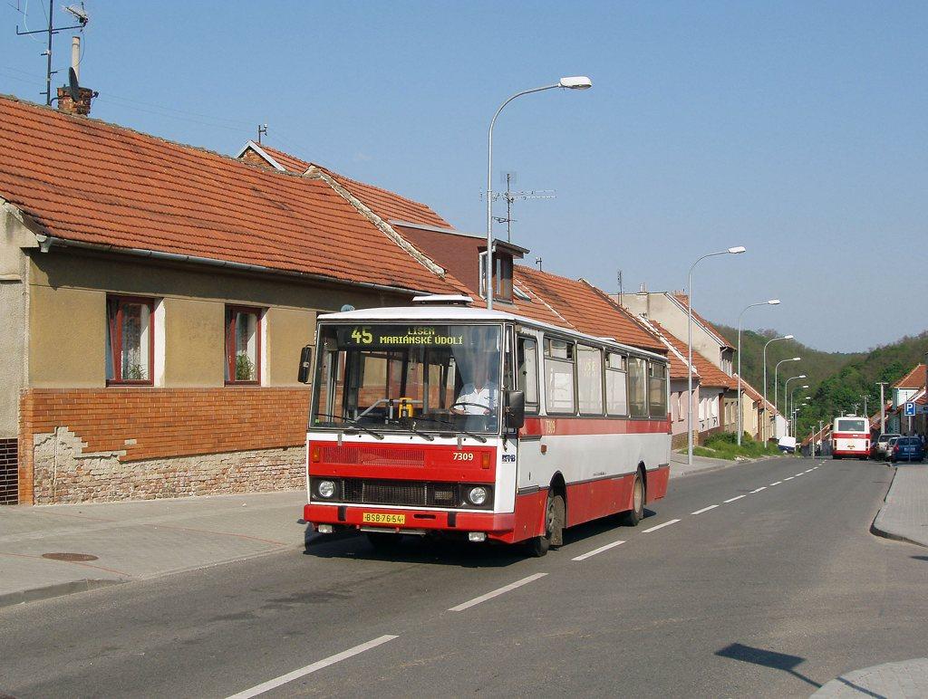 Fotogalerie » Karosa B732.1652 7309   Brno   Líšeň   Ondráčkova
