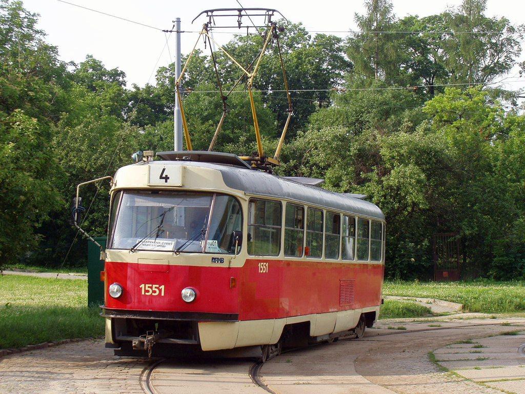 Fotogalerie » ČKD Tatra T3 1551 | Brno | Maloměřice | Obřanská | Babická