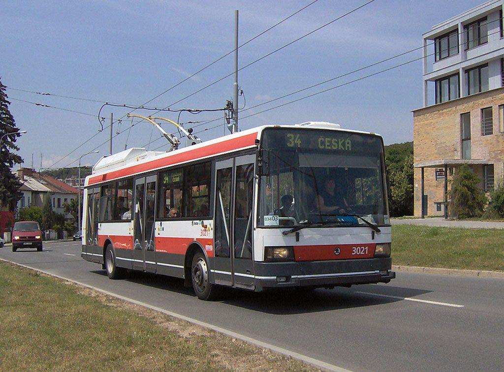 Fotogalerie » Škoda 21Tr 3021 | Brno | Žabovřesky | Přívrat