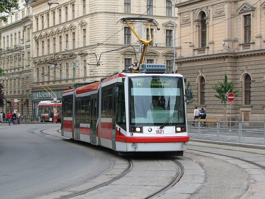 Fotogalerie » Škoda 03T7 1821 | Brno | střed | Žerotínovo náměstí