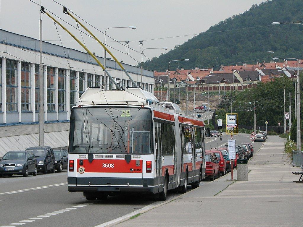Fotogalerie » Škoda 22Tr 3608   Brno   Komín   Veslařská   Vozovna Komín
