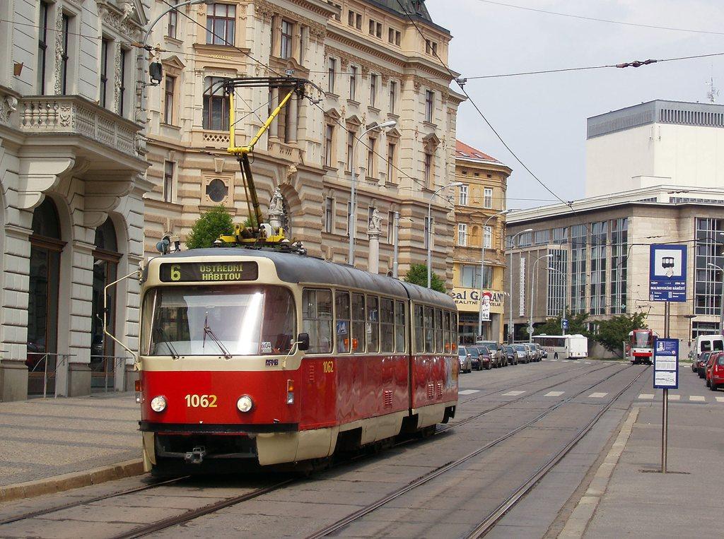 Fotogalerie » ČKD Tatra K2P 1062 | Brno | střed | Malinovského náměstí | Malinovského náměstí