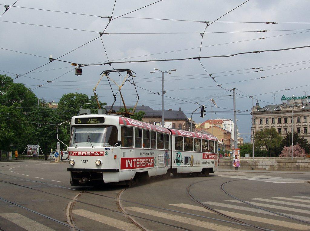 Fotogalerie » ČKD Tatra K2YU 1127 | Brno | střed | Moravské náměstí