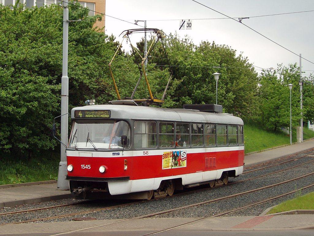Fotogalerie » ČKD Tatra T3M 1545 | Brno | Medlánky | Hudcova