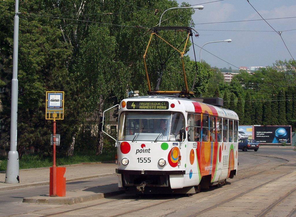 Fotogalerie » ČKD Tatra T3M 1555 | Brno | Maloměřice | Dolnopolní | Maloměřický most