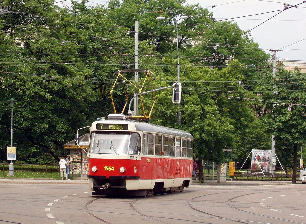 Fotogalerie » ČKD Tatra T3P 1564 | Brno | střed | Moravské náměstí