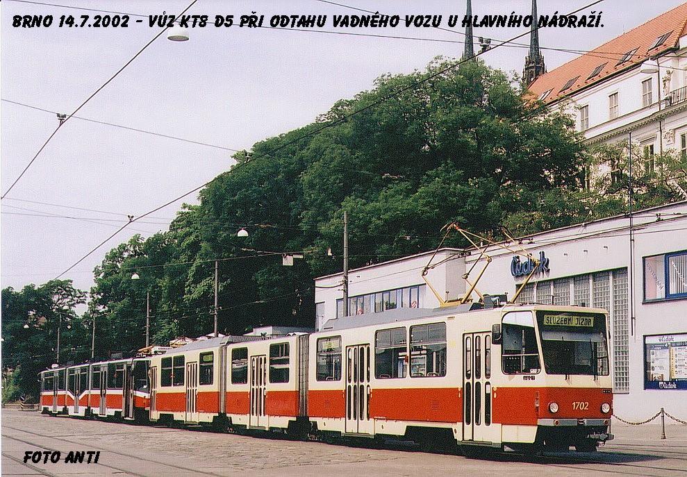Fotogalerie » ČKD Tatra KT8D5 1702 | Brno | střed | Nádražní