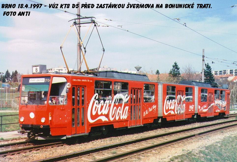 Fotogalerie » ČKD Tatra KT8D5 1704 | Brno | Bohunice