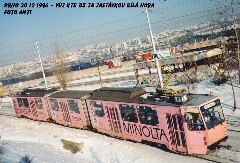 Fotogalerie » ČKD Tatra KT8D5 1707 | Brno | Líšeň | Jedovnická | Bílá Hora