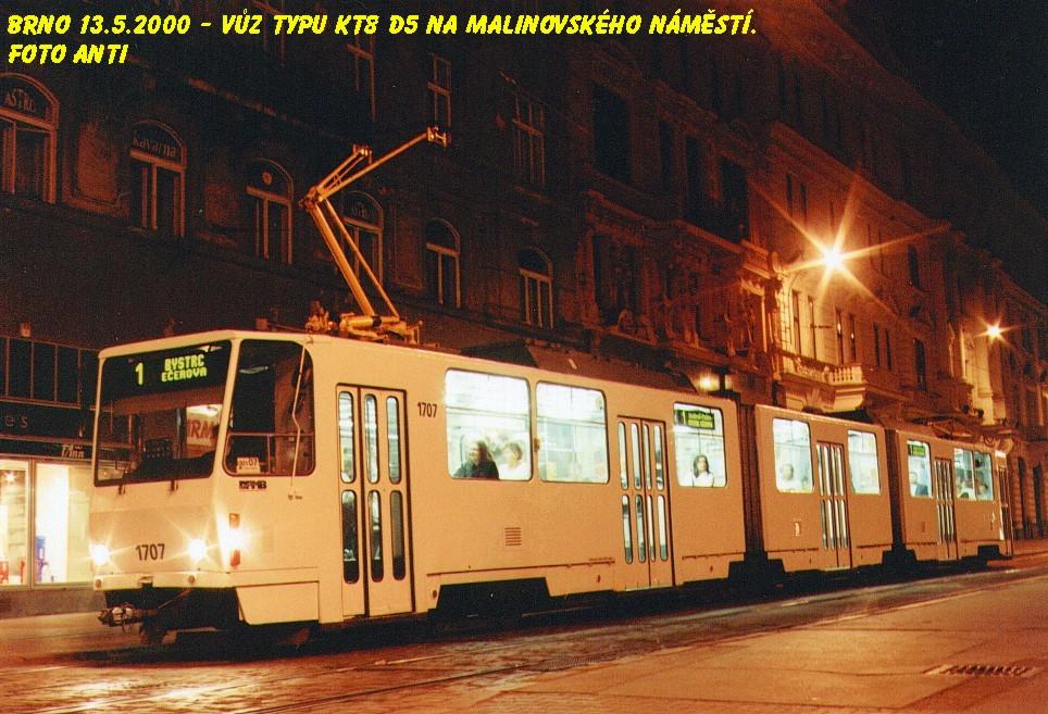 Fotogalerie » ČKD Tatra KT8D5 1707 | Brno | střed | Malinovského náměstí | Malinovského náměstí