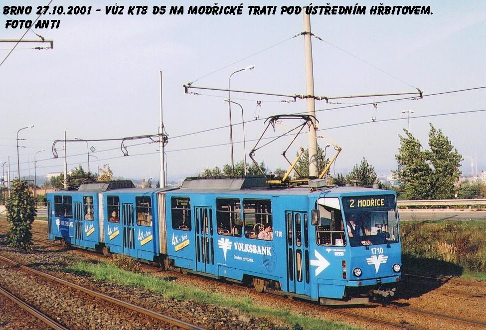 Fotogalerie » ČKD Tatra KT8D5 1710   Brno   Horní Heršpice   Vídeňská