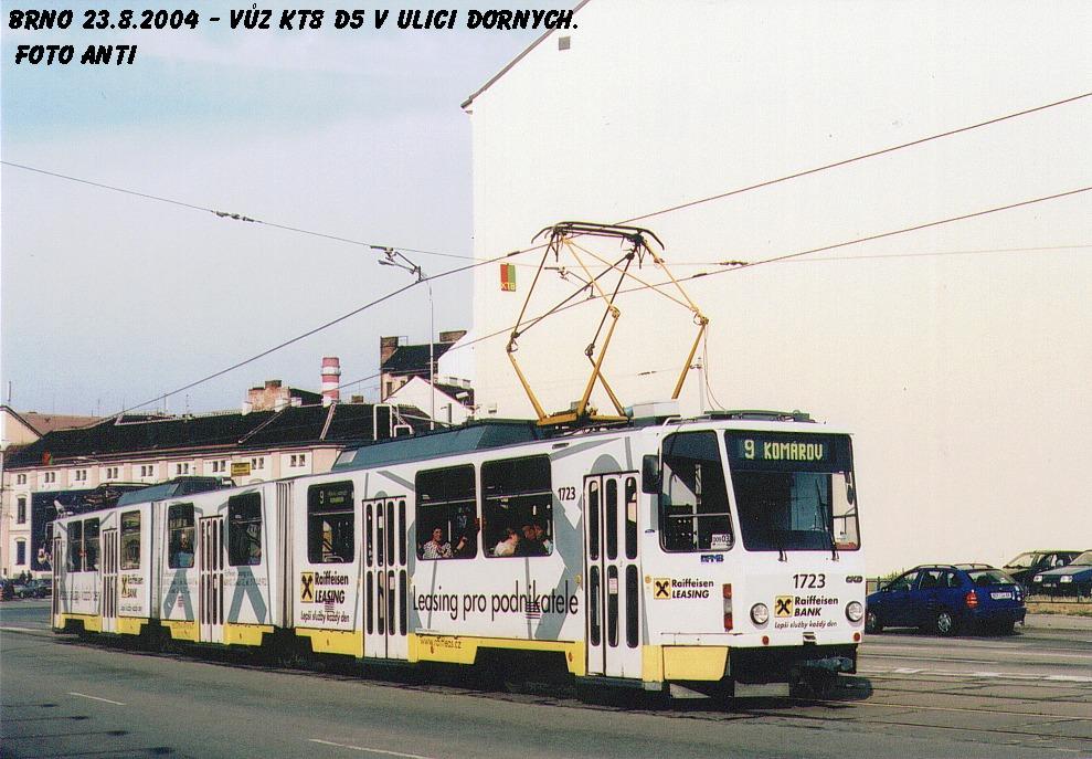 Fotogalerie » ČKD Tatra KT8D5 1723 | Brno | Trnitá | Dornych