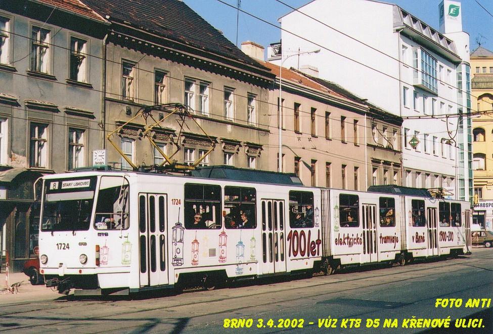 Fotogalerie » ČKD Tatra KT8D5SU 1724 | Brno | Trnitá | Křenová