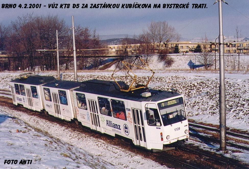 Fotogalerie » ČKD Tatra KT8D5SU 1728 | Brno | Bystrc