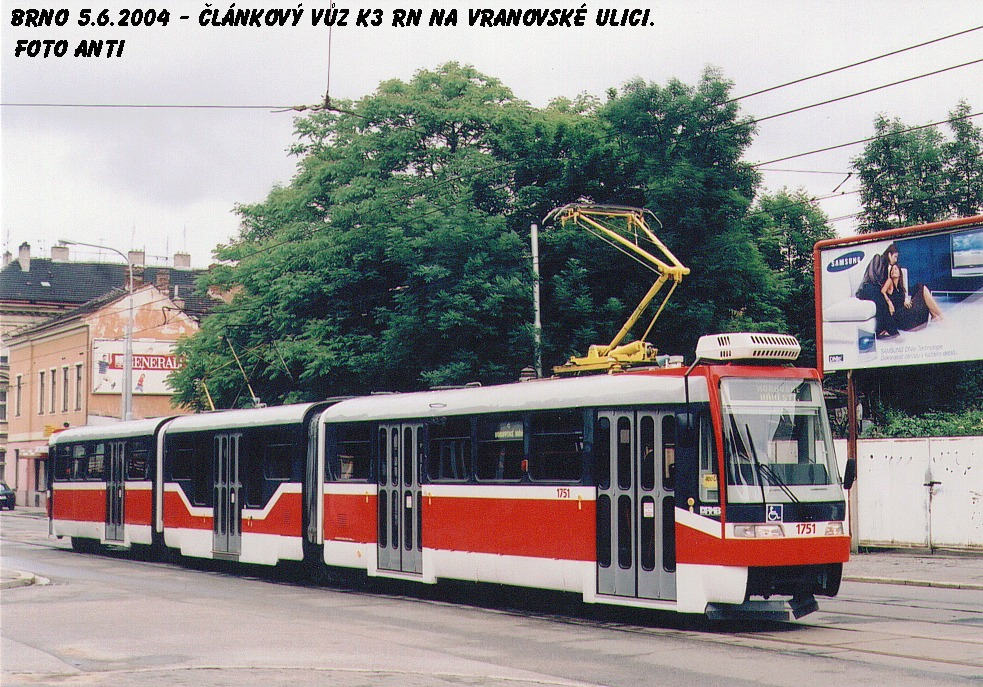 Fotogalerie » Pars Nova K3R-N 1751   Brno   Husovice   Vranovská
