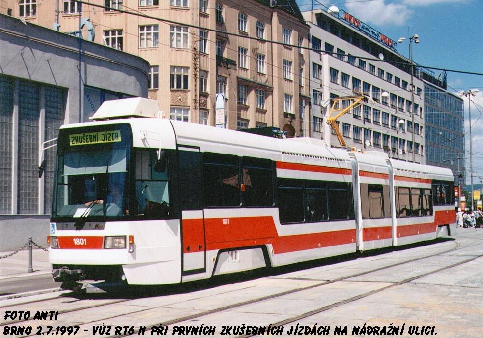 Fotogalerie » ČKD DS RT6N1 1801 | Brno | střed | Nádražní